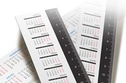 Réguas personalizadas com calendário