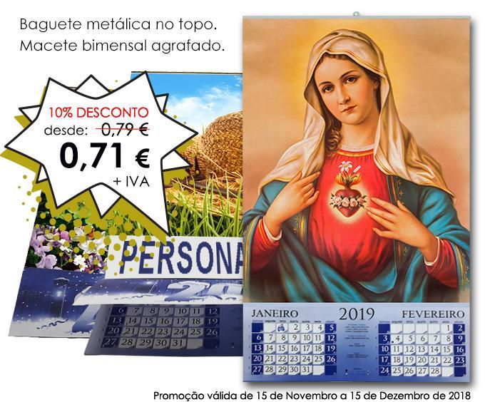 PROMO - Calendários de Parede Personalizados com macete de 2019