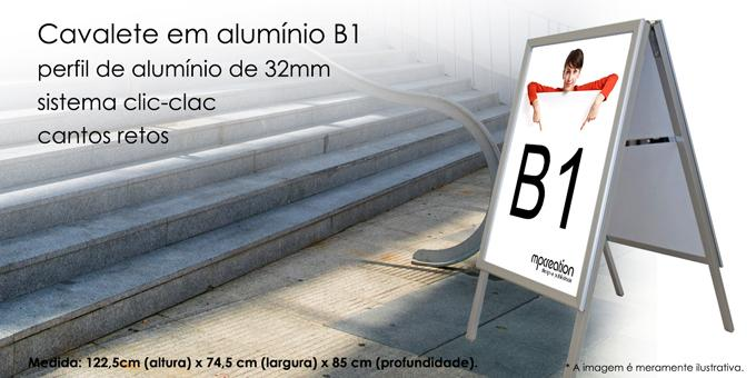 Cavalete em Alumínio B1