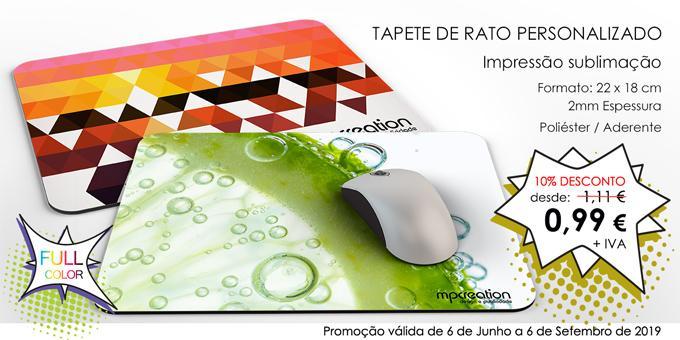 PROMO - Tapete de Rato 2mm Personalizado